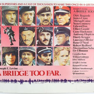 A Bridge Too Far (1977) British Quad film poster