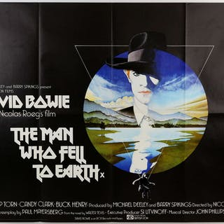The Man Who Fell To Earth (1976) British Quad film poster