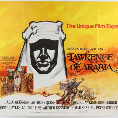 Lawrence Of Arabia (R-1971) British Quad film poster