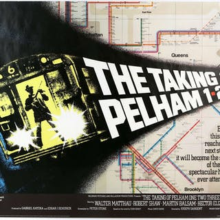 The Taking of Pelham 123 (1974) British Quad film poster...