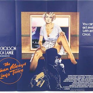The Postman Always Rings Twice (1981) British Quad film poster