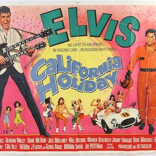Two Elvis Presley British Quad film posters
