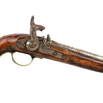 19th century percussion pistol 36cm barrel length 23cm ...