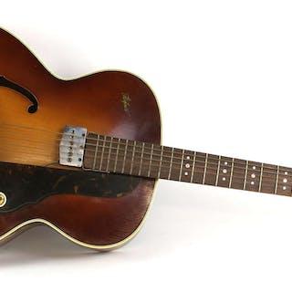Hofner Compensator acoustic guitar with sunburst body