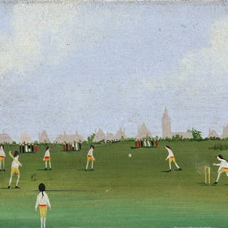 Cricket paintings and prints including 'The Cricket...