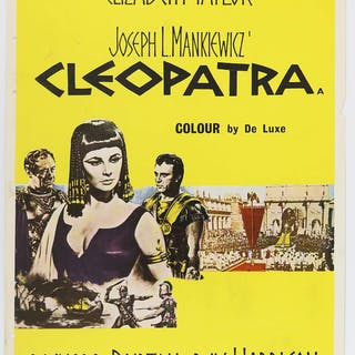 Cleopatra (1963) UK Double Crown film poster