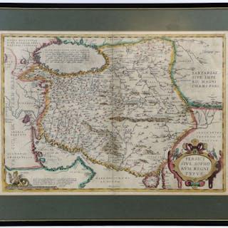 16th/17th century map of Persia from Ortelius' Theatrum Orbis Terrarum