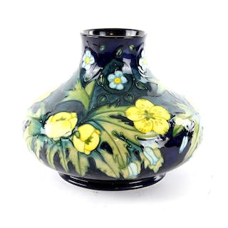Moorcroft buttercup vase by Sally Tuffin,1990's