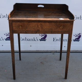 19th century oak side table with a single drawer ...