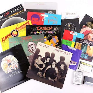 Queen / Freddie Mercury - 75 vinyl records including LP albums