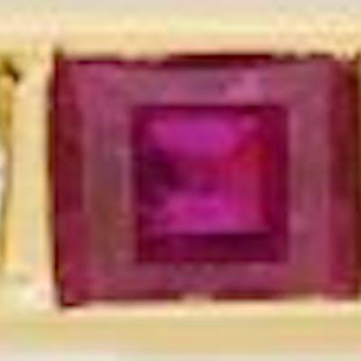 Vintage Ruby and Diamond Half Eternity Ring, c.1970s