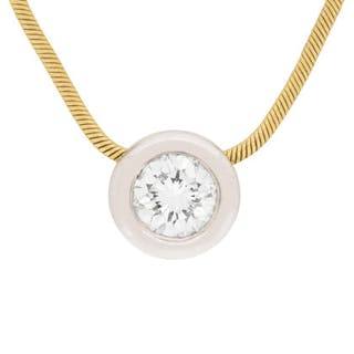 Diamond Pendant and Earring Set