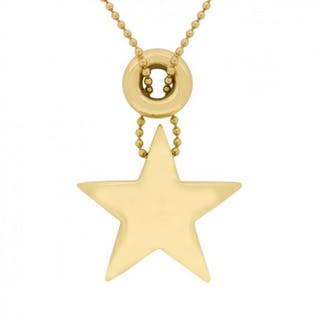 Tiffany & Co 18 Carat Yellow Gold Star Pendant Necklace