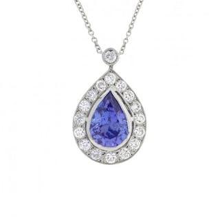 3.60 Carat Tanzanite and Diamond Necklace, c.1960s