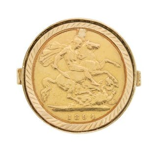 Half Sovereign Gents Gold Ring, c.1976