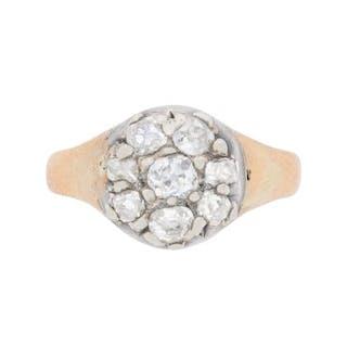 Victorian Diamond Cluster Ring, c.1880s