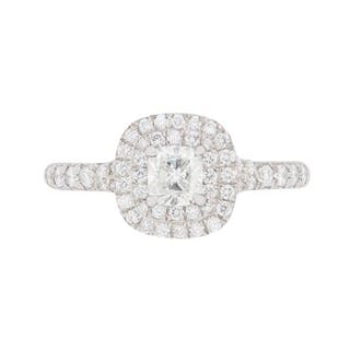 da248f9fb Tiffany & Co Soleste Double Halo Diamond Ring