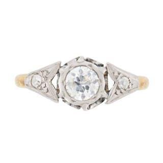 Edwardian 0.50 Carat Diamond Solitaire Engagement Ring, c.1910