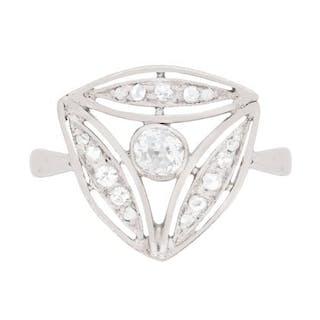Art Deco Diamond Triangular Ring, c.1920s