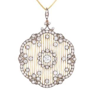 Art Deco Diamond Pendant and Brooch, c.1920s