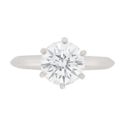 Tiffany & Co 1.56 Carat Diamond Solitaire