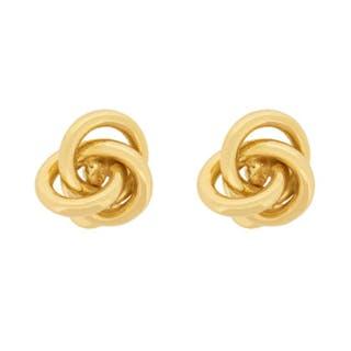 18 Carat Yellow Gold Knot Cufflinks, c.1970s