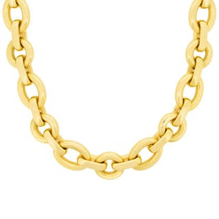 Chaumet 18 Carat Yellow Gold Necklace and Bracelet set