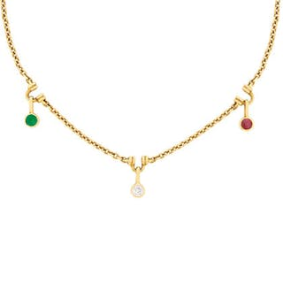 Boodles Diamond, Ruby and Emerald Drop Necklace, c.1990s