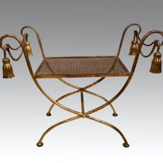 Italian Romanesque gilt stool.
