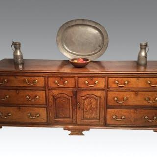 Georgian oak dresser base.