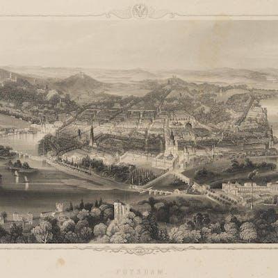 William French - Mit A.H.Payne, Die Stadt Potsdam in der Vogelschau