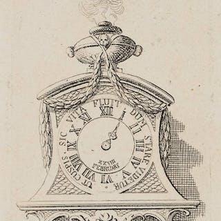 Daniel Nikolaus Chodowiecki - Eine Uhr auf einem Consol