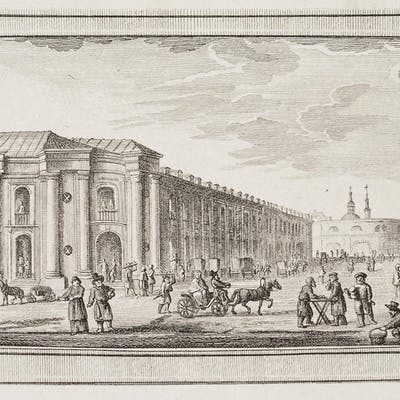 Daniel Nikolaus Chodowiecki - Eine Straße in St. Petersburg