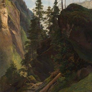 Friedrich Preller d. Ä. - Gebirgslandschaft