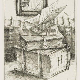 Rolf Escher - Wolfenbütteler Bücher-Stillleben