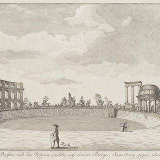 Johann David Schleuen der Jüngere - Ansicht des Ruinenbergs im Schlosspark
