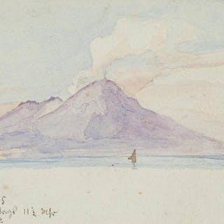 Leo Primavesi - Der Vesuv von Capri aus gesehen