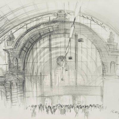Rolf Escher - Im Frankfurter Hauptbahnhof