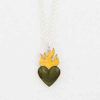 Camilla Prytz - Lionhearts med flamme, grønn/gul