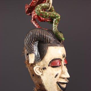 Masque Gouro Gu de la danse Zaouli (N° 12545)