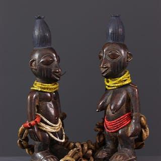 Figures de jumeaux Ibedji Yoruba (N° 12666)