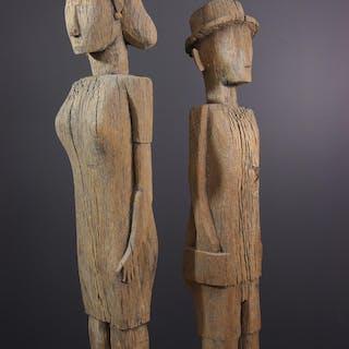 Couple de figures d'ancêtres Sakalava (N° 12846)