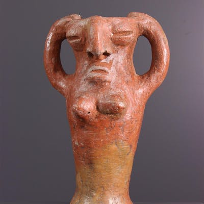 Poterie rituelle janiforme style Bura (N° 13680)