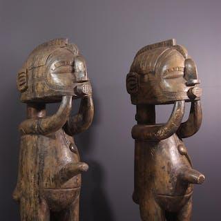 Couple de statues Baga Nimba (N° 13739)