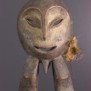 Statuette masque d'initiation Lega (N° 14051)