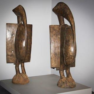 Couple de grands Calaos Senoufo (N° 5881)