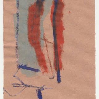 Akt im roten Mantel mit Lampe - Karl Bohrmann