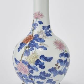Vase balustre, Chine, dynastie Qing (1644-1912), marque Qianlong apocryphe