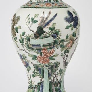 Grand vase balustre, Chine, dynastie Qing (1644-1912)