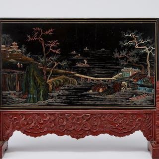 Ecran de table, Chine, dynastie Qing (1644-1912)